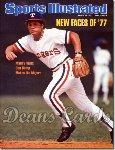 1977 Sports Illustrated - With Label   March 28  -  Bump Wills (Texas Rangers)