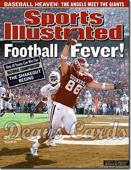 2002 Sports Illustrated - With Label   October 21  -  Trent Smith Oklahoma OU Sooners