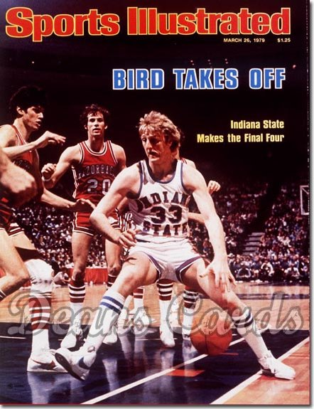 1979 Sports Illustrated - With Label   March 26  -  Larry Bird (Indiana State Sycamores)