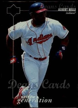 1996 Upper Deck #371   -  Albert Belle Best of a Generation