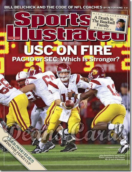 2007 Sports Illustrated   September 24  -  John David Booty Football USC Trojans