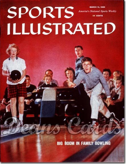 1960 Sports Illustrated - With Label   March 14  -  Family Bowling
