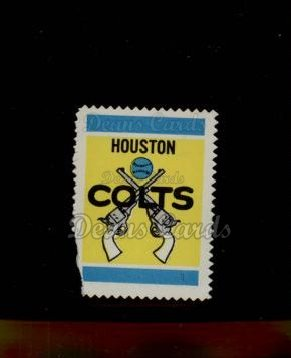 1962 Topps Stamps #122   Houston Emblem
