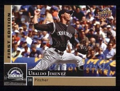 2009 Upper Deck First Edition #96  Ubaldo Jimenez