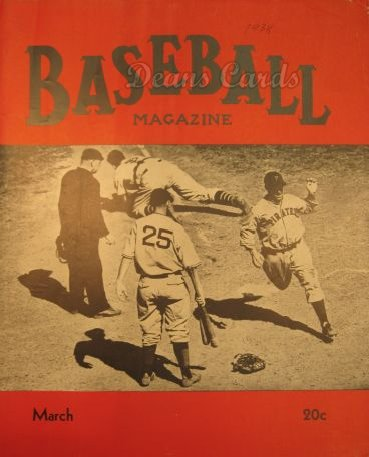 1938 Baseball Magazine    March