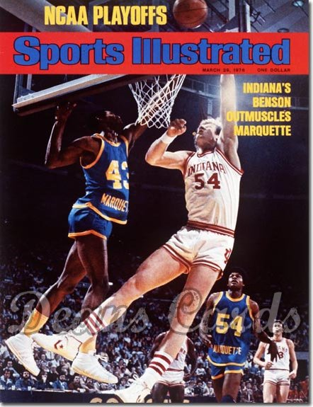 1976 Sports Illustrated - With Label   March 29  -  Kent Benson (Indiana Hoosiers)