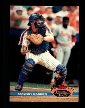 1991 Topps Stadium Club #172  Mackey Sasser