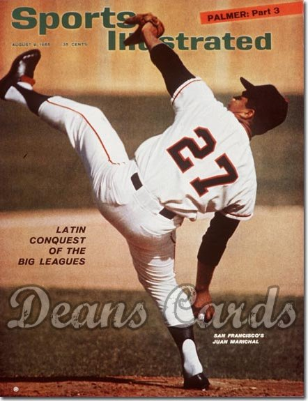 1965 Sports Illustrated - With Label   August 9  -  Juan Marichal (San Francisco Giants)