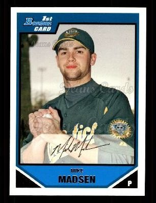 2007 Bowman Prospect #89 BP Mike Madsen
