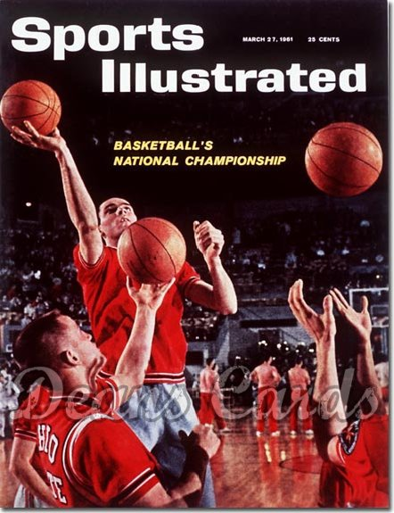 1961 Sports Illustrated - With Label   March 27  -  John Havlicek & Jerry Lucas Ohio State Buckeyes