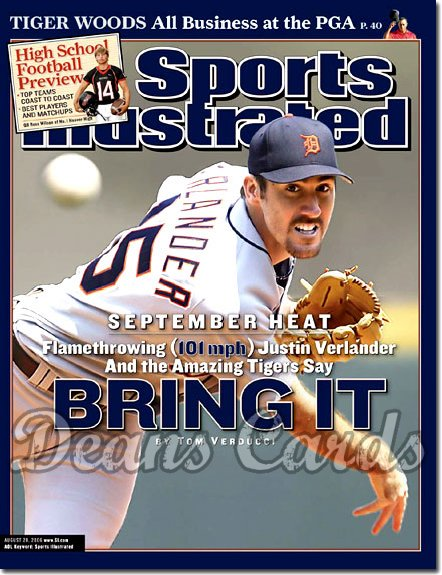 2006 Sports Illustrated - With Label   August 28  -  Jason Verlander Detroit Tigers