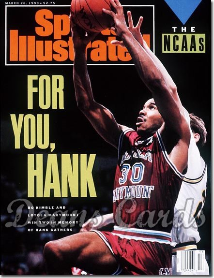 1990 Sports Illustrated - With Label   March 26  -  Bo Kimble (Loyola Marymount)