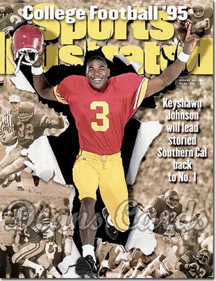 1995 Sports Illustrated - With Label   August 28  -  Keyshawn Johnson (USC Trojans) (College Football Issue)