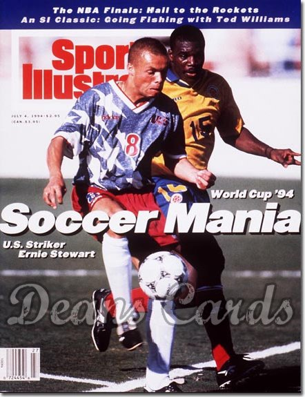 1994 Sports Illustrated - With Label   July 4  -  Ernie Stewart (USA Soccer / World Cup)