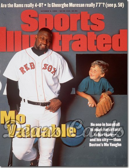 1995 Sports Illustrated - With Label   October 2  -  Mo Vaughn (Boston Red Sox)