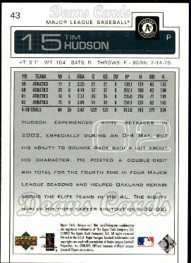 2003 Upper Deck #43  Tim Hudson