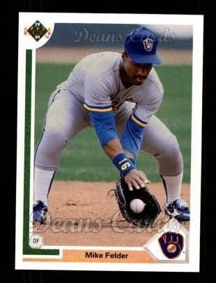 1991 Upper Deck #395  Mike Felder