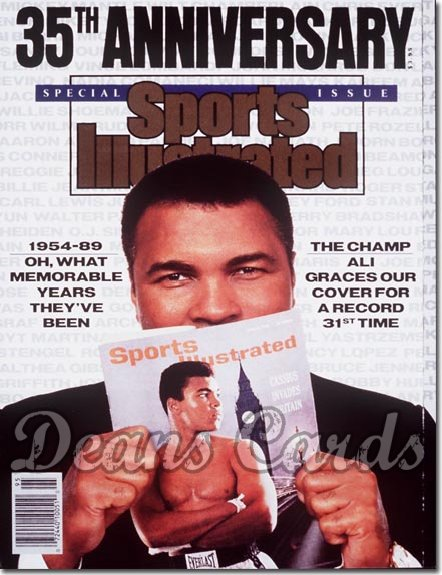 1989 Sports Illustrated - With Label   November 15  -  Muhammad Ali (35th Anniversary Issue)