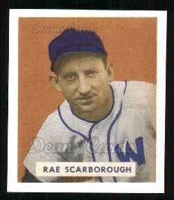 1949 Bowman REPRINT #140  Ray Scarborough