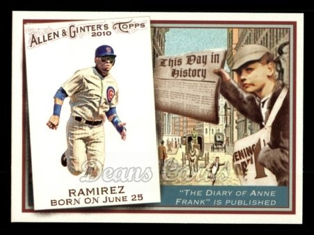2010 Topps Allen & Ginter This Day In History #3 TDH  -  Aramis Ramirez This Day in History