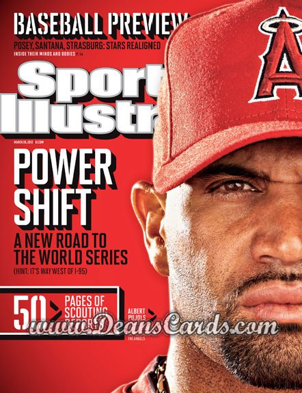 2012 Sports Illustrated   March 26  -  Albert Pujols / Anaheim Angels / Power Shift
