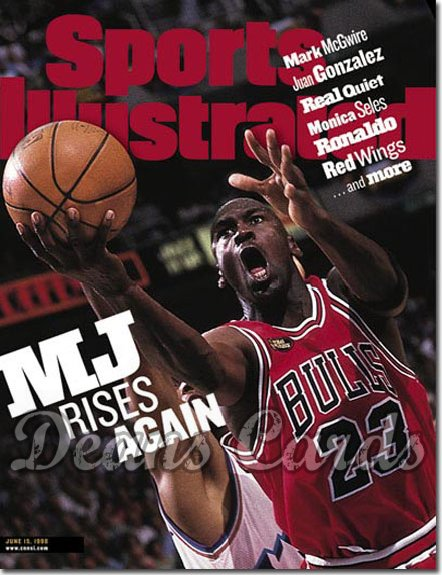 1998 Sports Illustrated - With Label   June 15  -  Michael Jordan (Chicago)