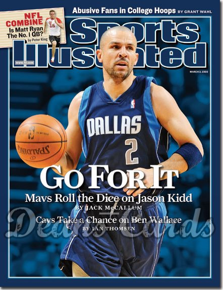 2008 Sports Illustrated - With Label   March 3  -  Jason Kidd Dallas Mavericks
