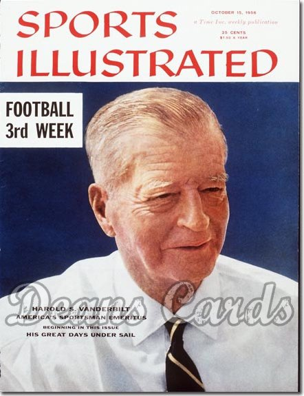 1956 Sports Illustrated - With Label   October 15  -  Harold Vanderbilt Yachting