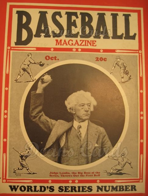 1934 Baseball Magazine    October