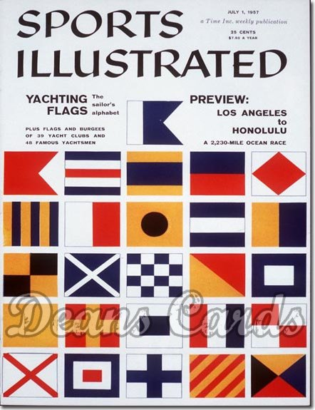 1957 Sports Illustrated - With Label   July 1  -  Yachting Flags