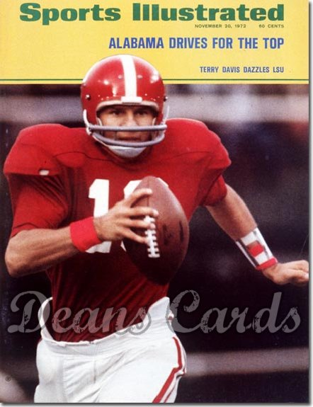 1972 Sports Illustrated - With Label   November 20  -  Terry Davis (Alabama Crimson Tide)