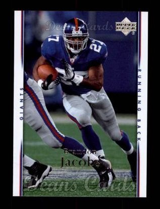 2007 Upper Deck #128  Brandon Jacobs
