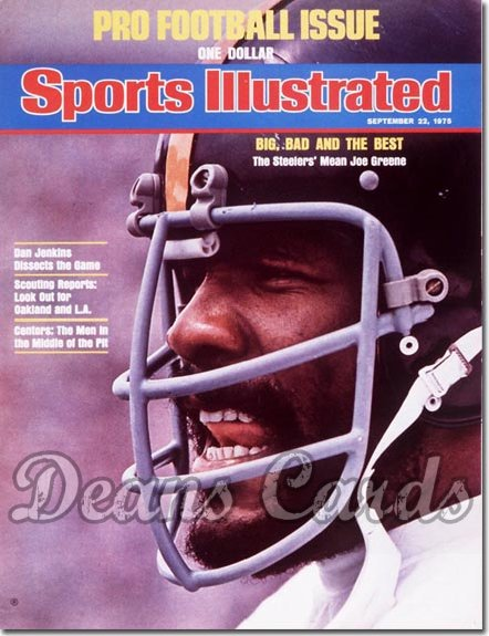 1975 Sports Illustrated - With Label   September 22  -  Joe Greene (Pittsburgh Steelers)