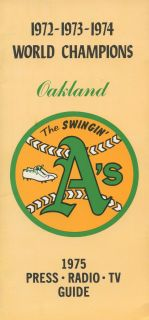1975  Athletics ( A's )'s Media Guide