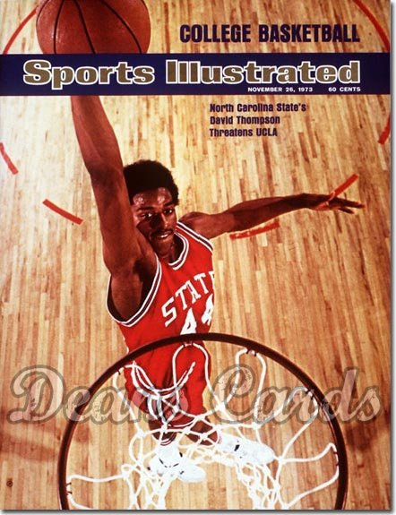 1973 Sports Illustrated - With Label   November 26  -  David Thompson NCState Wolfpack