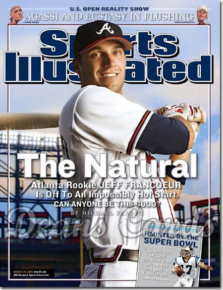 2005 Sports Illustrated - With Label   August 29  -  Jeff Francoeur Atlanta Braves