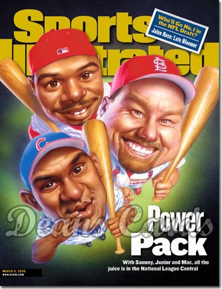 2000 Sports Illustrated   March 6  -  McGwire Sosa & Griffey (Cardinals Cubs & Reds)
