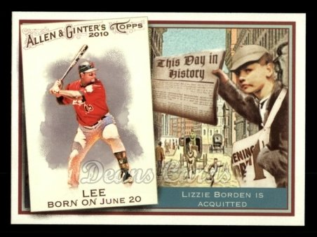 2010 Topps Allen & Ginter This Day In History #74 TDH  -  Carlos Lee This Day in History