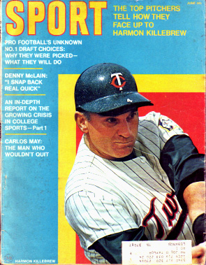 1970 Sport Magazine   -  Harmon Killebrew  June