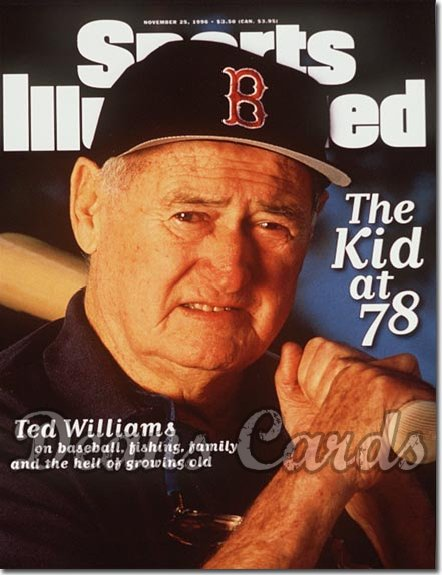 1996 Sports Illustrated - With Label   November 25  -  Ted Williams Boston Red Sox