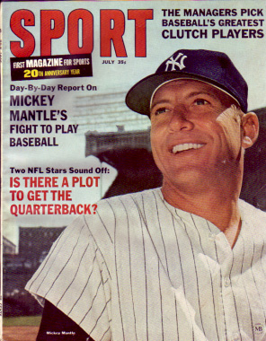 1966 Sport Magazine   -  Mickey Mantle  July