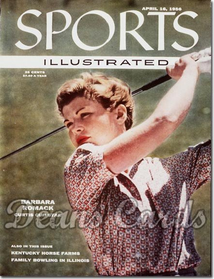 1956 Sports Illustrated - With Label   April 16  -  Barbara Romack