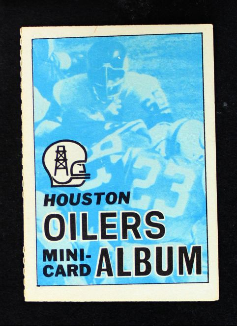 1969 Topps 4-in-1 Football Stamp Albums ALL  Houston Oilers