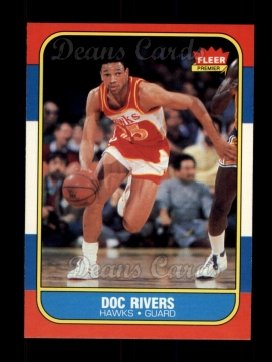 1986 Fleer #91  Doc Rivers