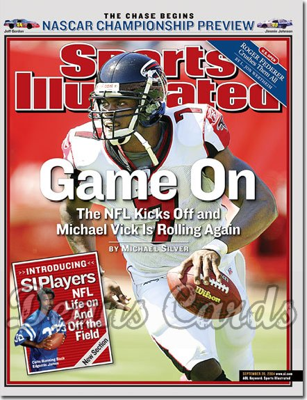 2004 Sports Illustrated   September 20  -  Michael Vick Falcons NASCAR Championship Preview