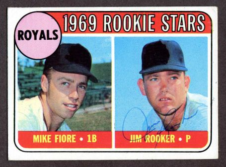 1969 Topps #376   -  Mike Fiore / Jim Rooker Royals Rookies