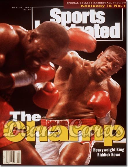 1992 Sports Illustrated - With Label   November 23  -  Riddick Bowe / Evander Holyfield