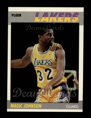 1987 Fleer #56  Magic Johnson