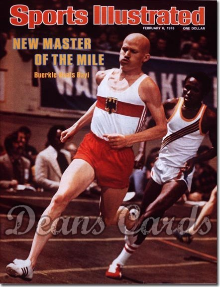 1978 Sports Illustrated - With Label   February 6  -  Dick Buerkle/Filbert Bayi (Track)Carl Lewis