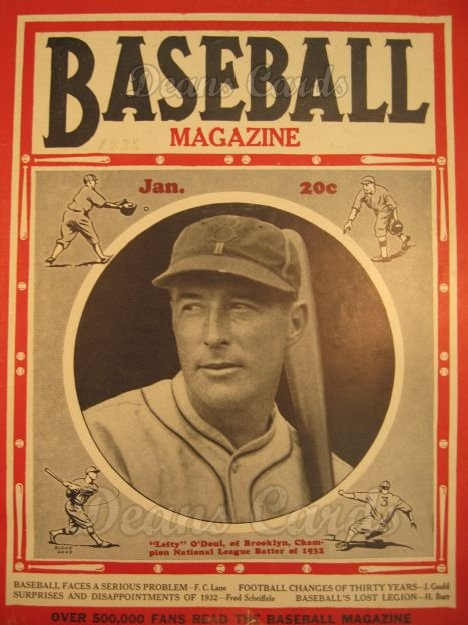 1933 Baseball Magazine    January